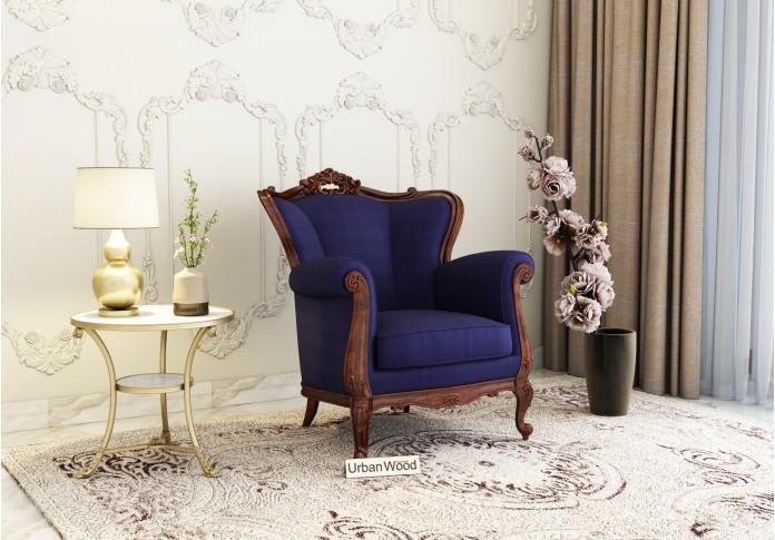 Badge Arm Chair ( Cotton, Navy Blue )