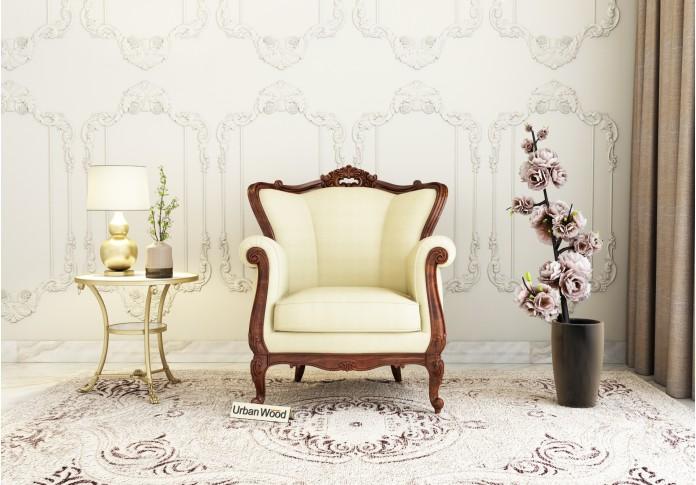Badge Arm Chair <small>( Cotton, Sepia Cream )</small>