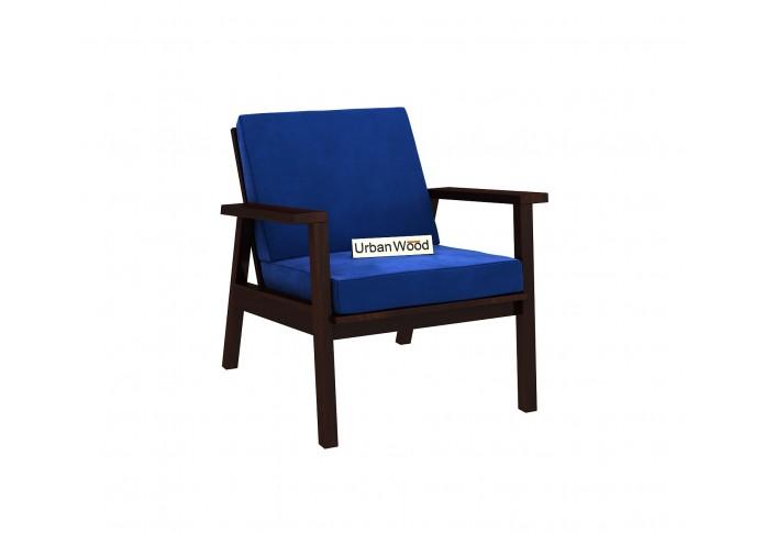 Rouge Arm Chair ( Velvet , Sapphire Blue )