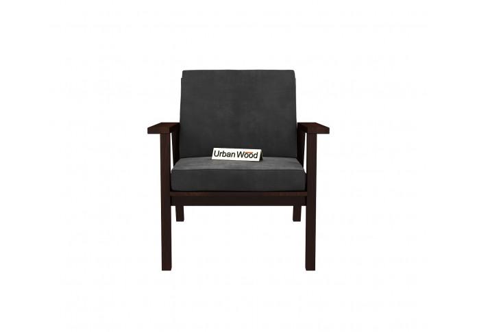 Rouge Arm Chair ( Velvet, Stone Grey )