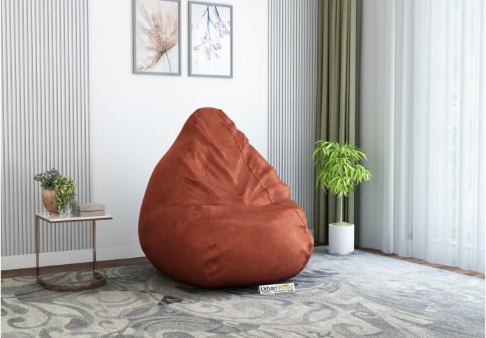 Hillbean XXXL Light Maroon Bean Bag ( Leatherette, Mahroon )