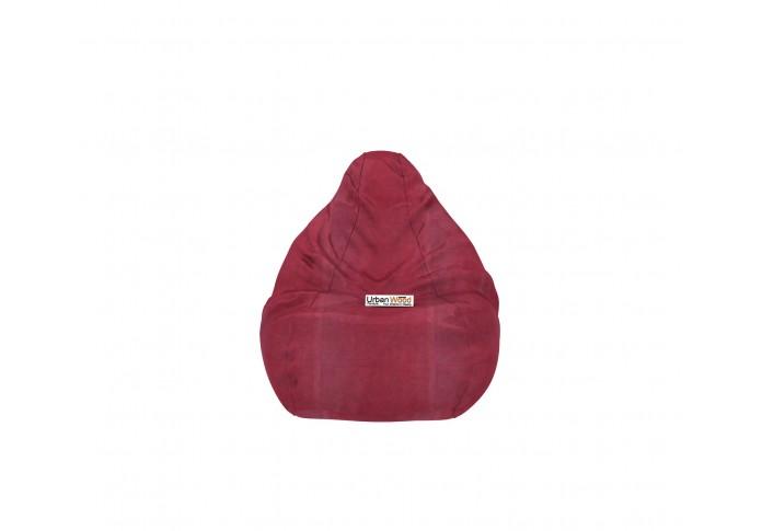 Hillbean XXXL Dark Maroon Bean Bag ( Leatherette, Mahroon )