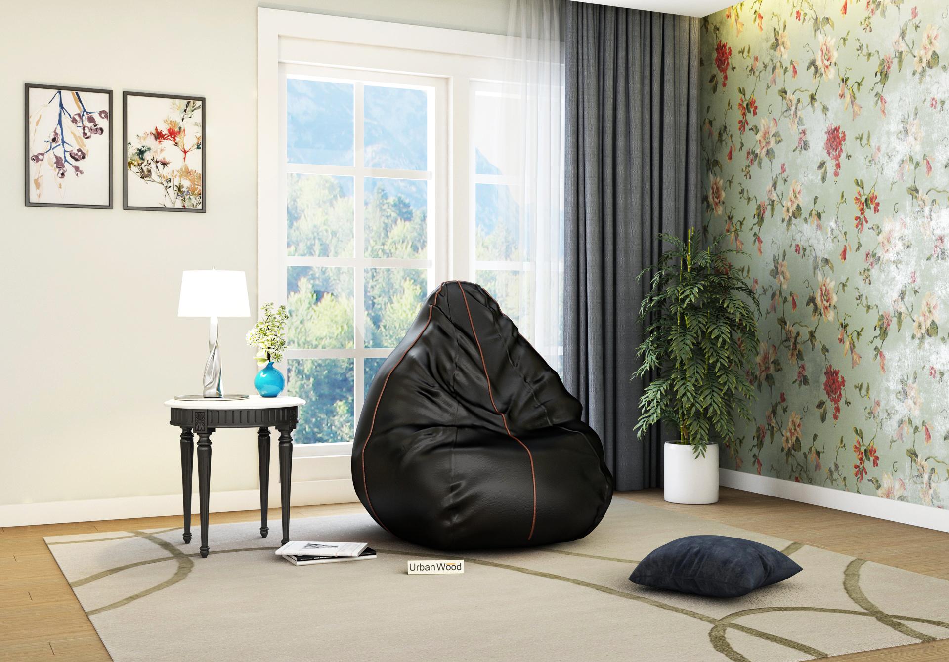 Hillbean XXXL Jet Black Bean Bag <small>( Jet Black ) </small>