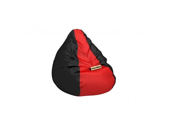 Hillbean XXXL Red Black Bean Bag <small>( Jet Black ) </small>