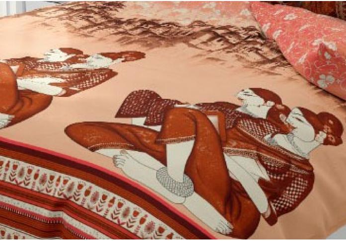 Aegis Orange Colored Bedsheet ( Twill Cotton )