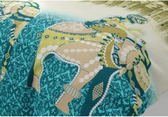 Apex Sea Green Colored Bedsheet <small>( Twill Cotton )</small>