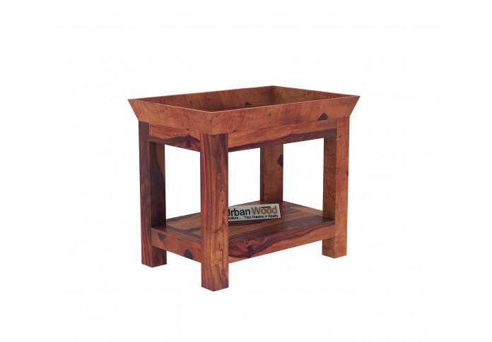 Ross Wooden Bedside Table (Teak Finish)