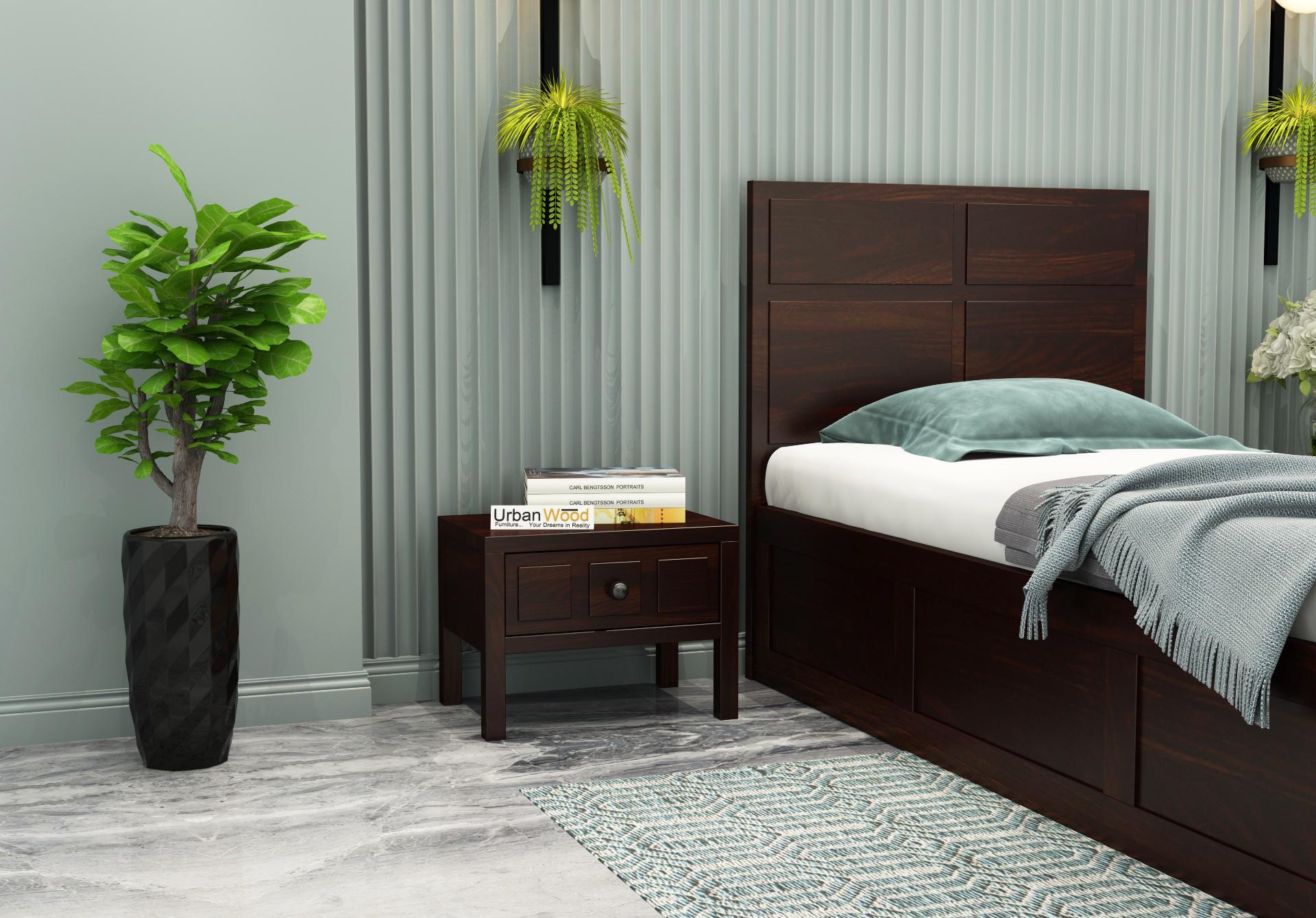 Bedswind Bedside Table <small>( Walnut Finish )</small>