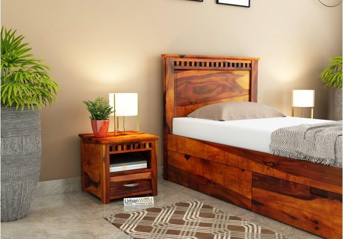 Fusion Bedside Table ( Honey Finish )