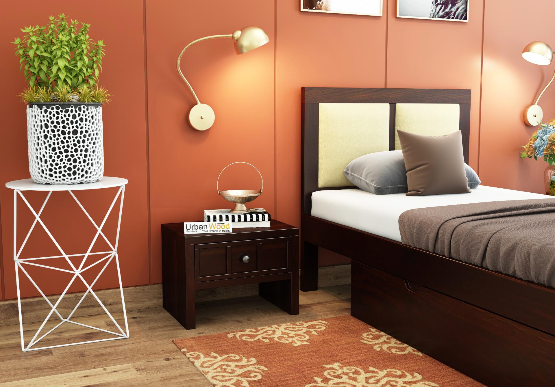 Harris Bedside Table <small>( Walnut Finish )</small>