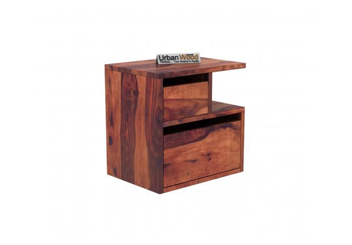 Jerry Wooden Bedside Table (Teak Finish)