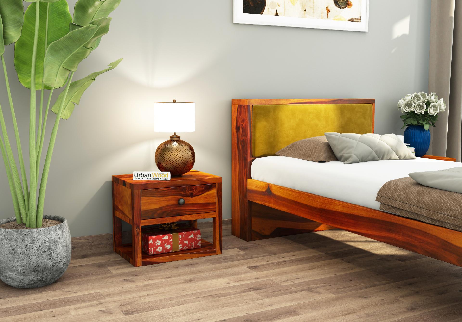 Laverock Bedside Table <small>( Honey Finish )</small>
