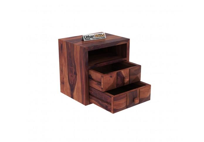 Morgana Bedside Table ( Teak Finish )