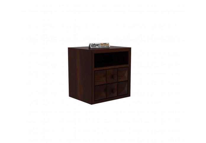 Morgana Bedside Table <small>( Walnut Finish )</small>