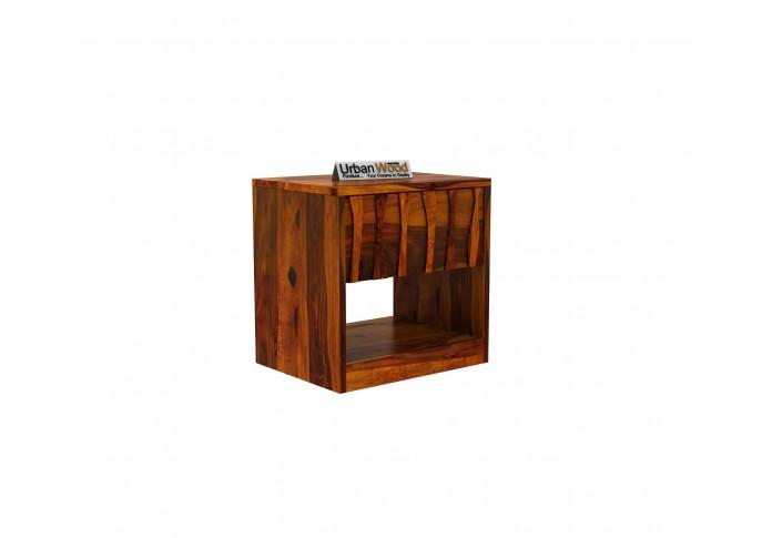 Stack Bedside Table ( Honey Finish )
