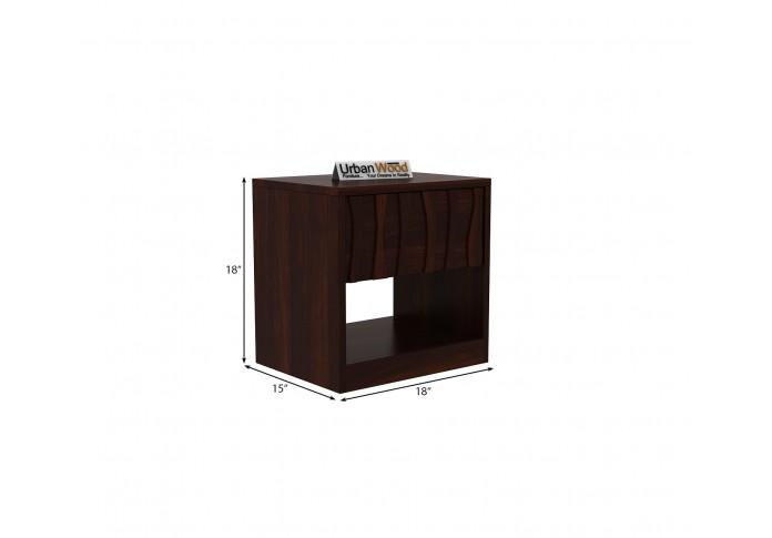 Stack Bedside Table ( Walnut Finish )