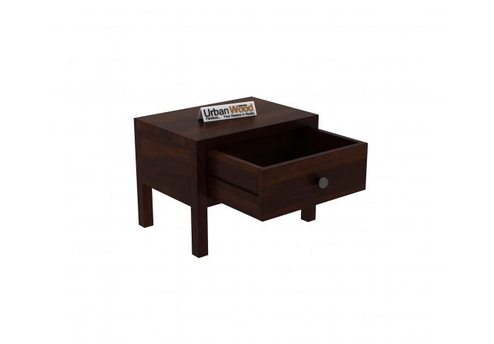 Topaz Bedside Table ( Walnut Finish )