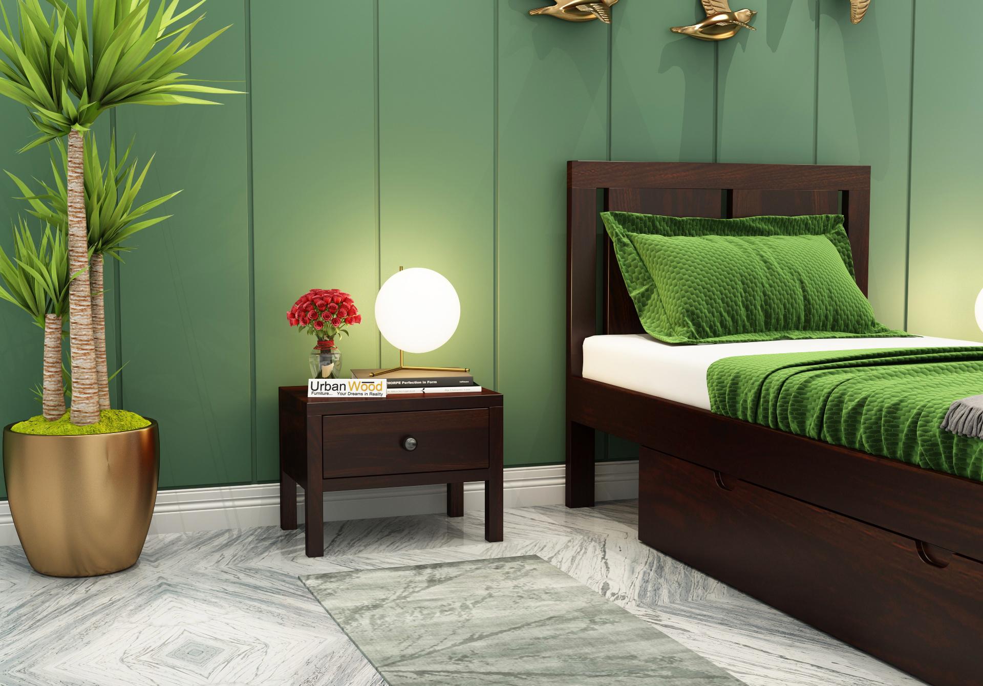 Topaz Bedside Table <small>( Walnut Finish )</small>