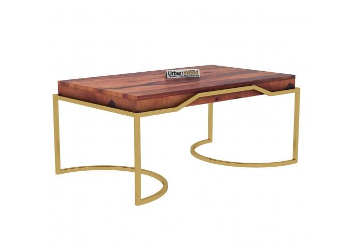 Alice Wooden Coffee Table (Teak Finish)