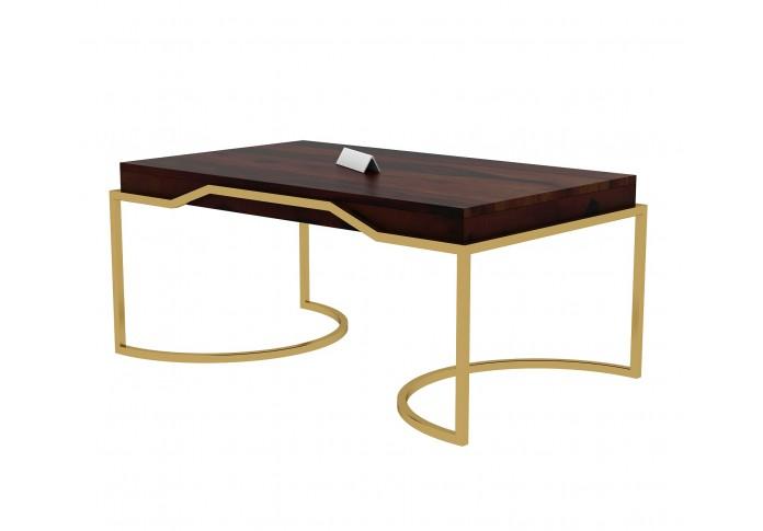 Alice Wooden Coffee Table (Walnut Finish)