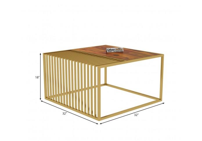 Clon Wooden Coffee Table (Honey Finish)