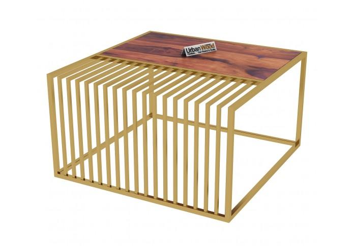 Clon Wooden Coffee Table (Teak Finish)