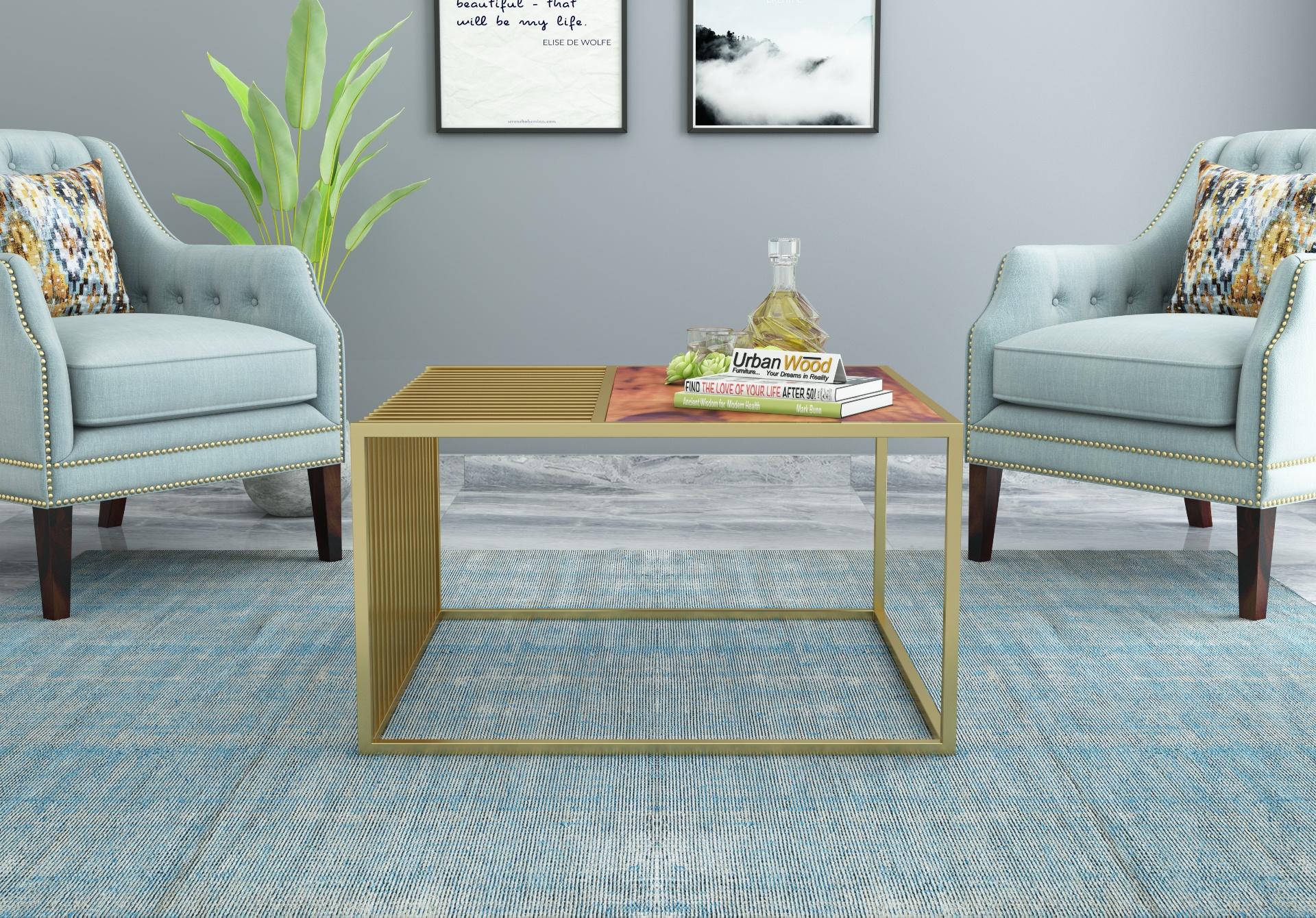 Clon Wooden Coffee Table <small>(Teak Finish)</small>