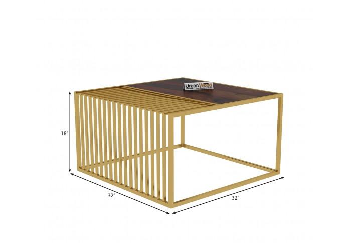 Clon Wooden Coffee Table (Walnut Finish)