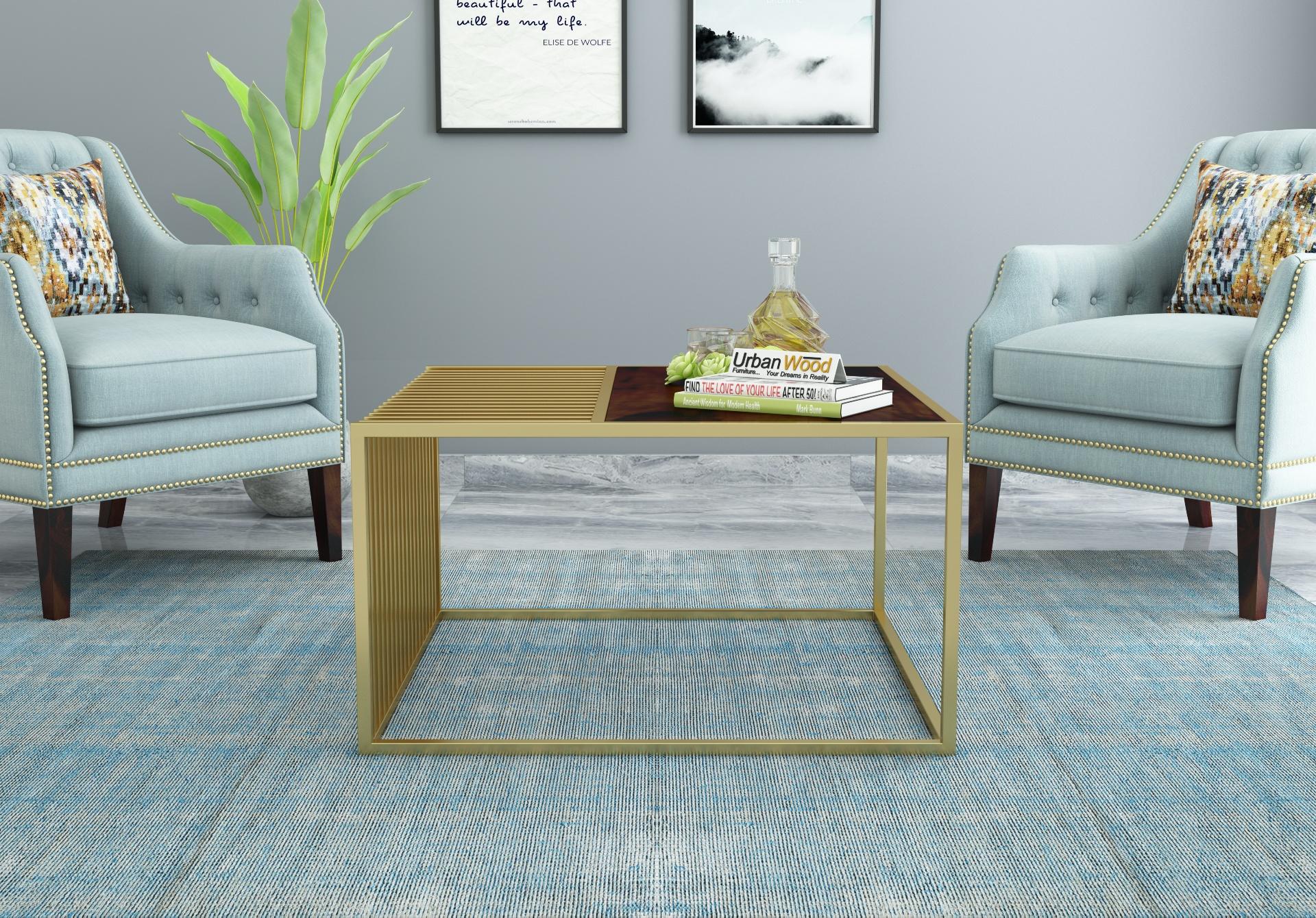 Clon Wooden Coffee Table <small>(Walnut Finish)</small>