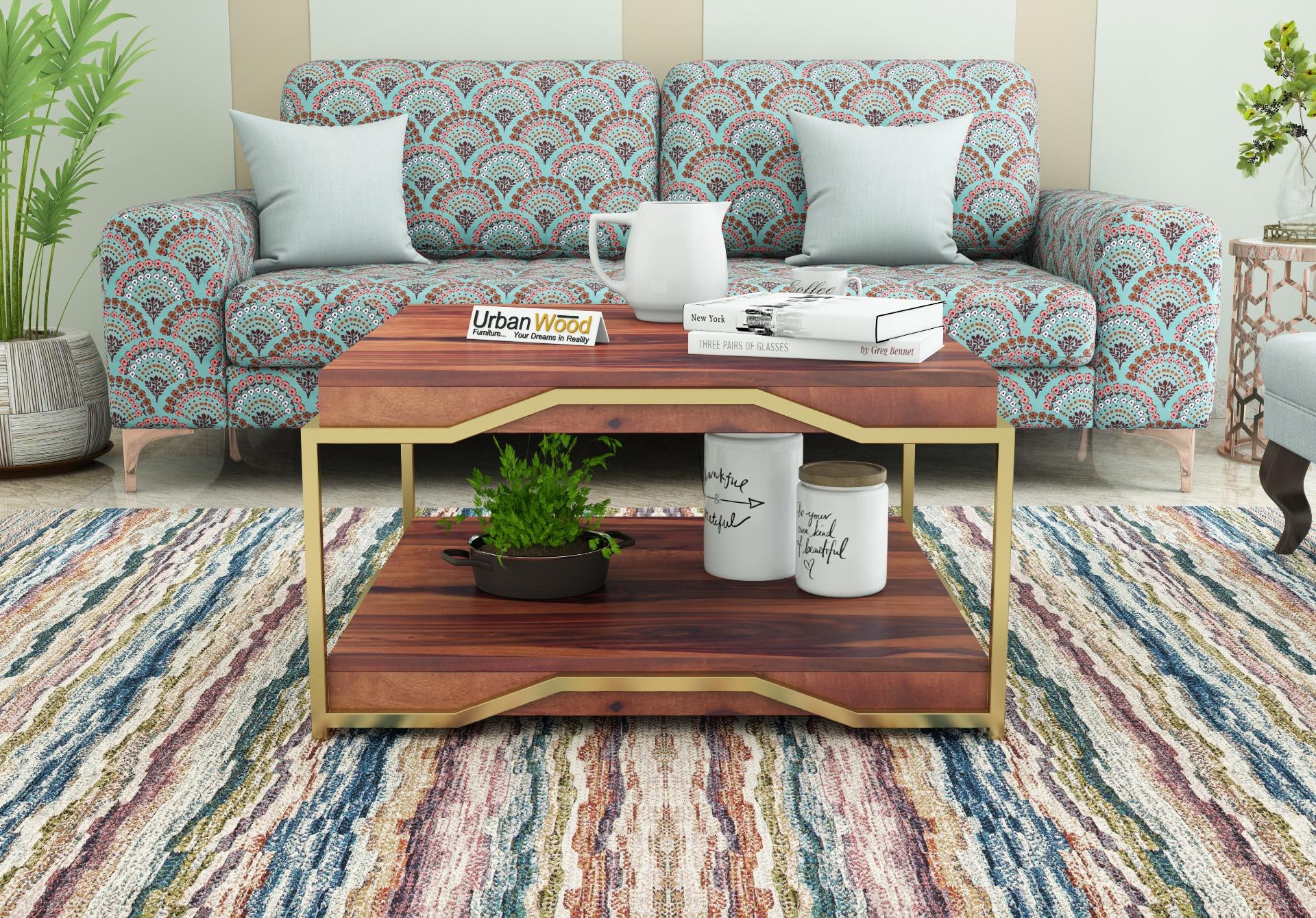 Dub Wooden Coffee Table <small>(Teak Finish)</small>