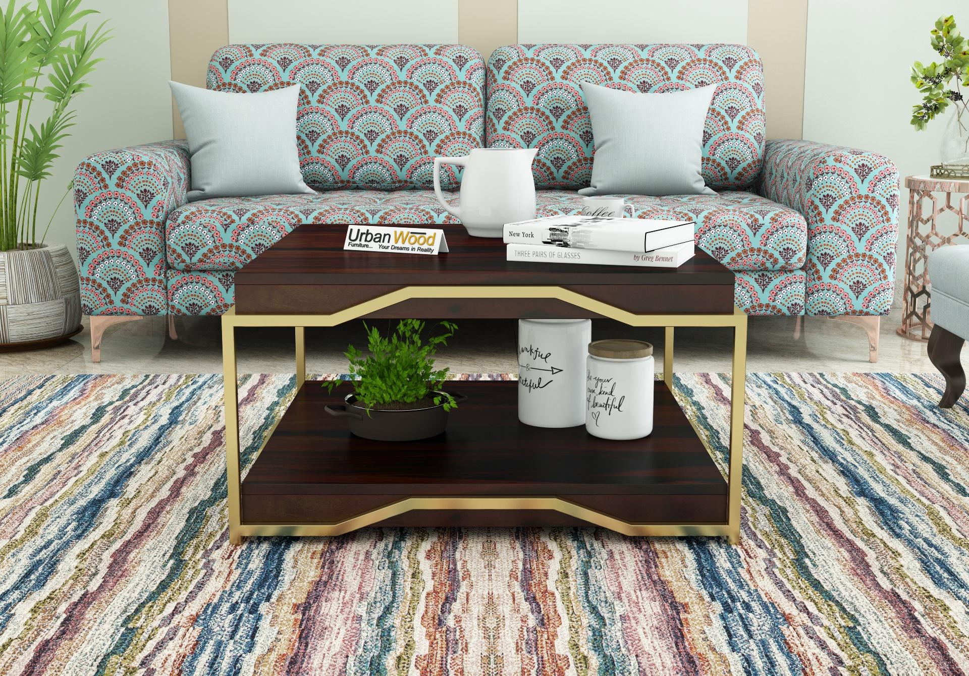 Dub Wooden Coffee Table <small>(Walnut Finish)</small>