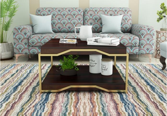 Dub Wooden Coffee Table (Walnut Finish)