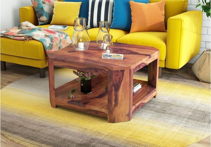 Eya Wooden Coffee Table (Teak Finish)