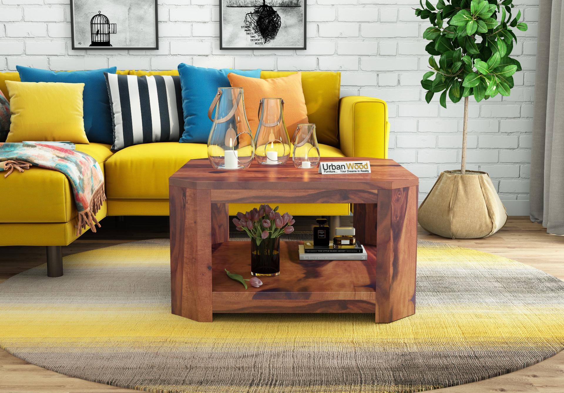 Eya Wooden Coffee Table <small>(Teak Finish)</small>