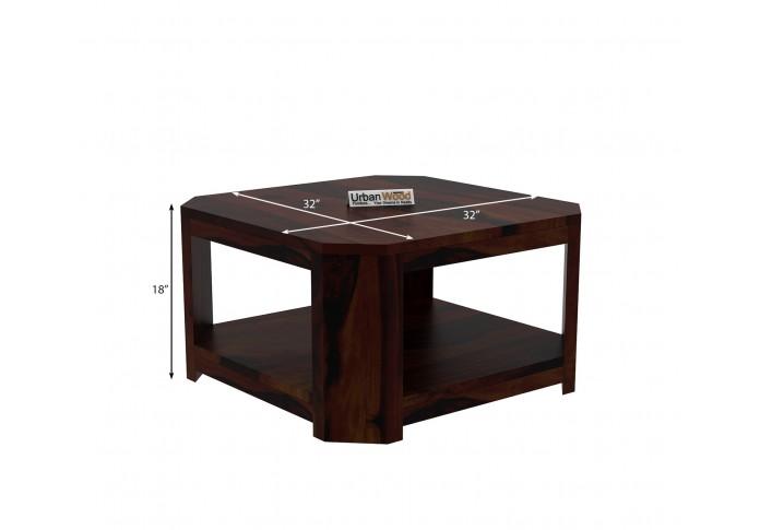 Eya Wooden Coffee Table (Walnut Finish)