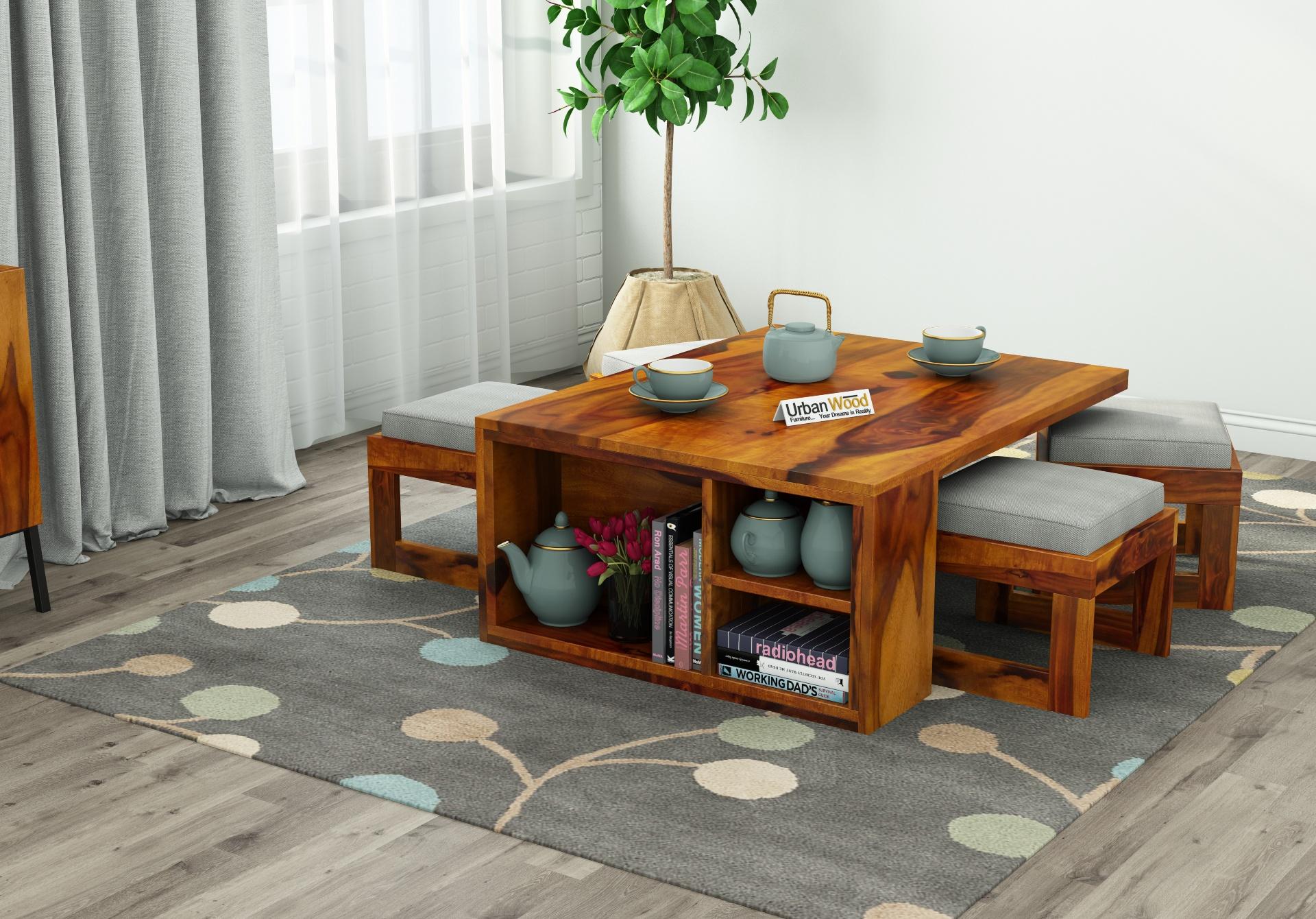 Icon Coffee Table Set <small>(Honey Finish)</small>