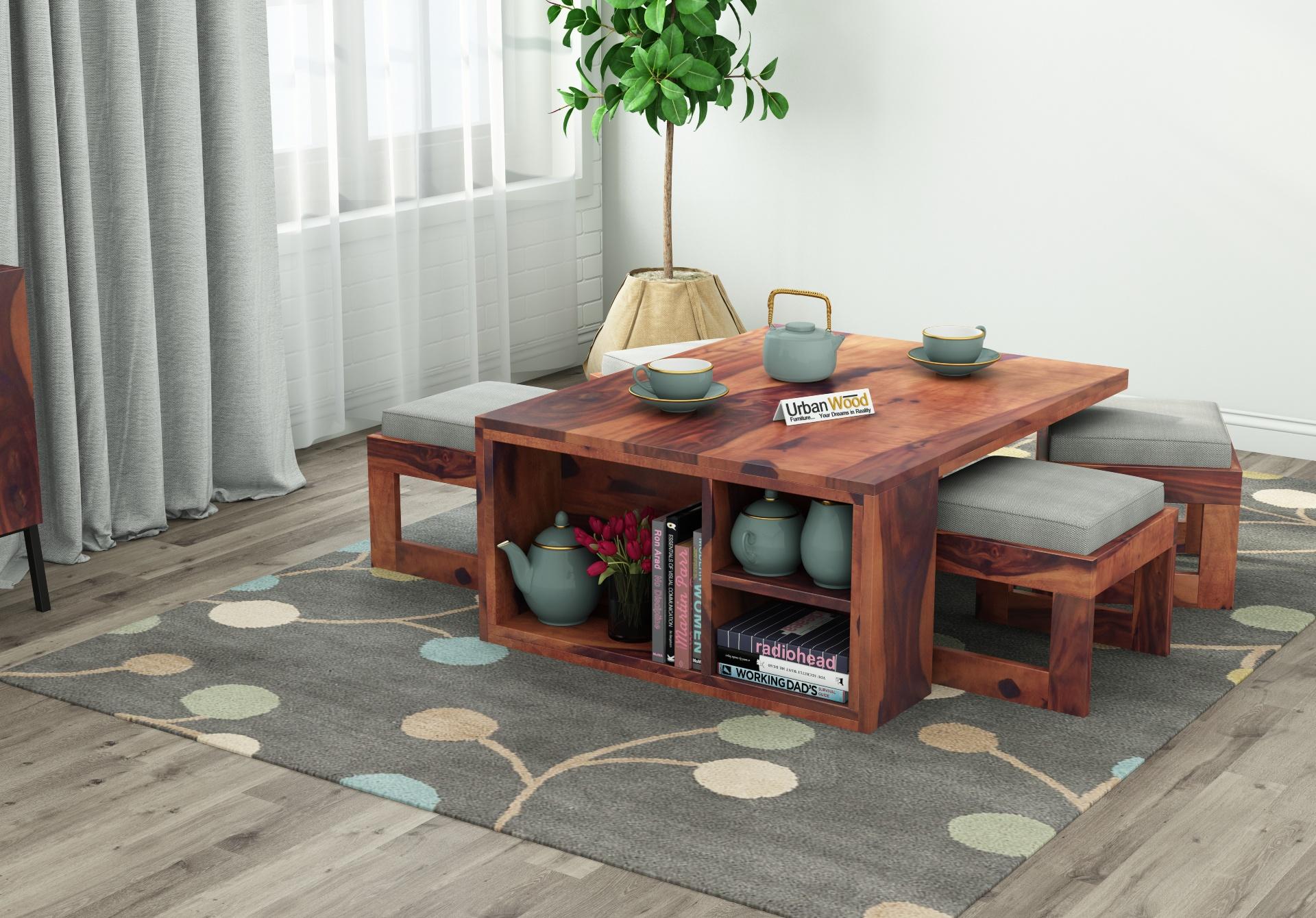 Icon Coffee Table Set <small>(Teak Finish)</small>