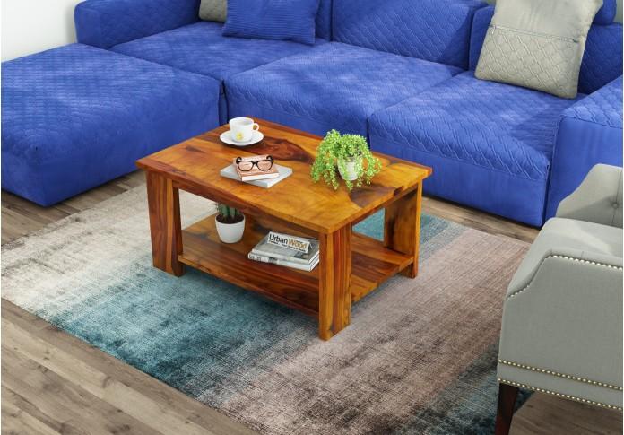 Lebe Wooden Coffee Table (Honey Finish)