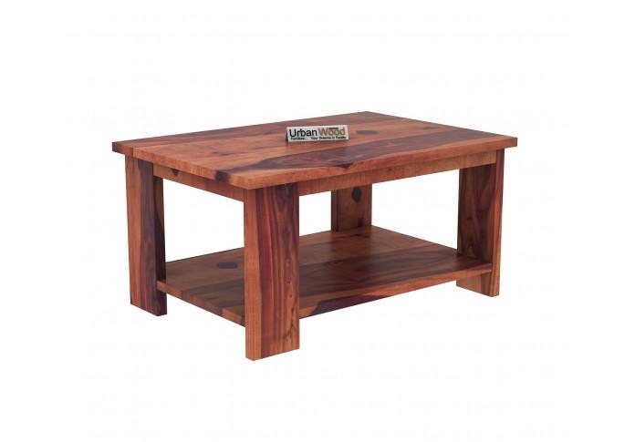 Lebe Wooden Coffee Table (Teak Finish)
