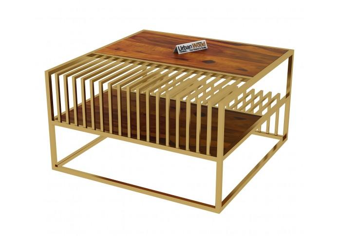 Lense Wooden Coffee Table (Honey Finish)