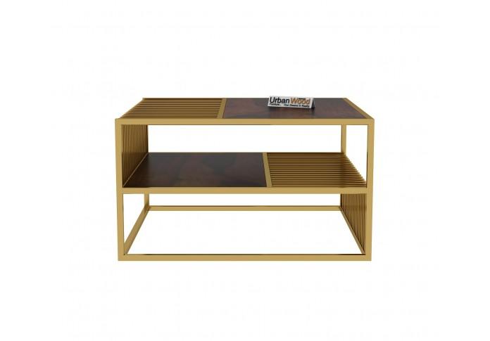 Lense Wooden Coffee Table (Walnut Finish)