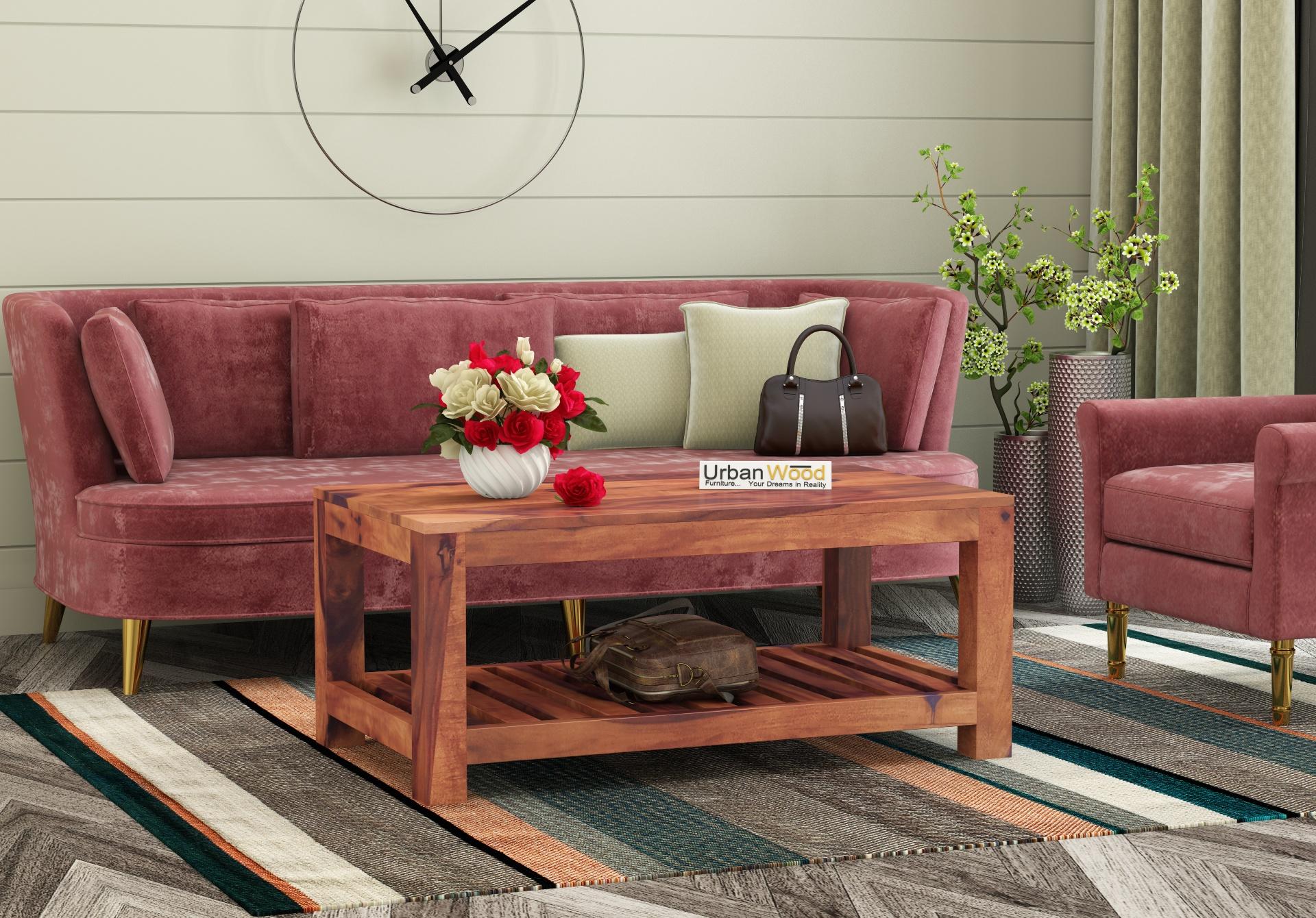 Lumber Coffee Table <small>( Teak Finish )</small>