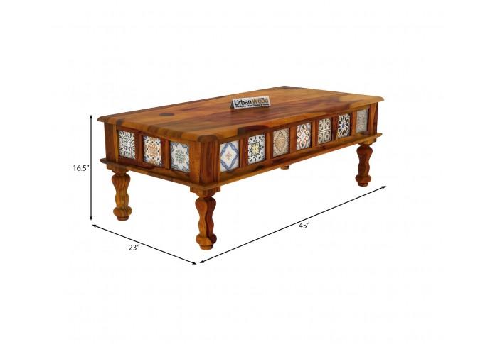 Relay Ceramic Tile Coffee Table (Honey Finish)
