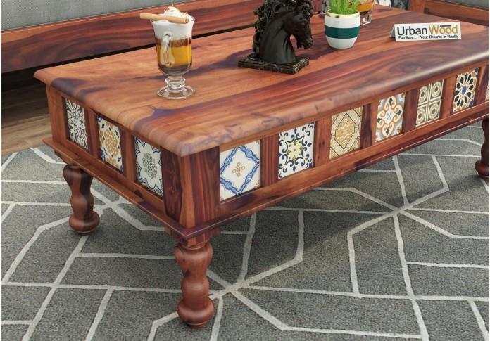 Relay Ceramic Tile Coffee Table (Teak Finish)