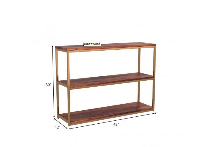 Cedar Console Table <small>( Teak Finish )</small>