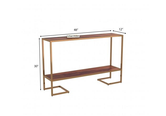 Hemlock  Console Table <small>( Teak Finish )</small>
