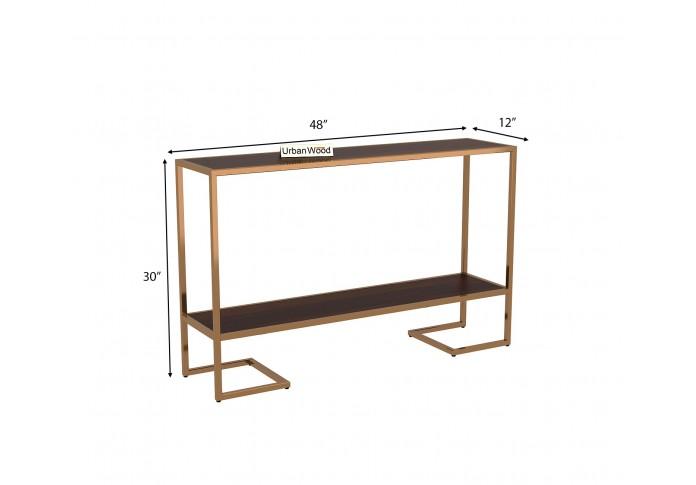 Hemlock  Console Table ( Walnut Finish )