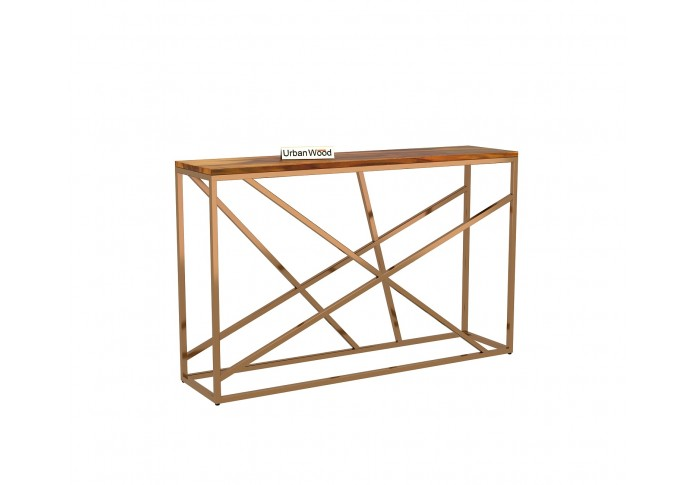 Rustic Console Table <small>( Honey Finish )</small>