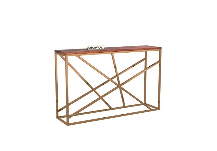 Rustic Console Table <small>( Teak Finish )</small>