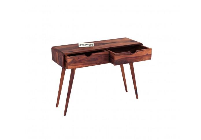 Yarn Console Table with Storage ( Teak Finish )